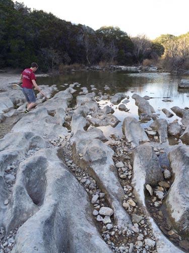barton creek river rocks