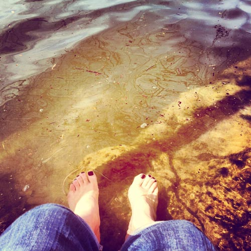 my feet in ladybird lake