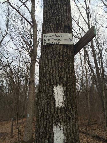 pulpit rock trail sign