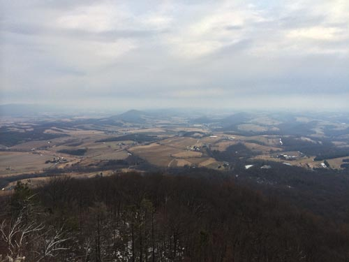 view from the top of the pinnacle