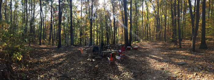 more of our blue rocks campsite