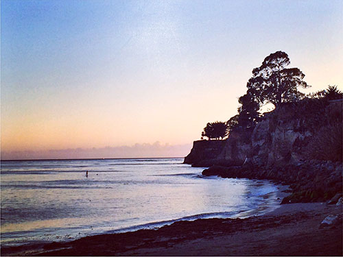 an ocean cliff in capitola