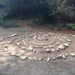 rocks set up in spiral formation