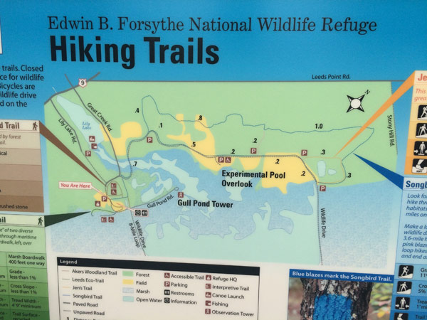 a map of the hiking trails