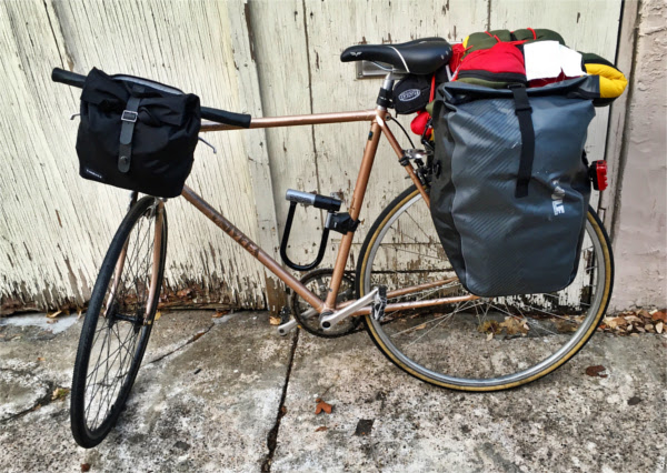 an overpacked bike