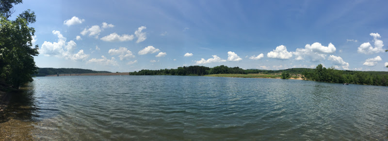 panoramic view of beltzville lake